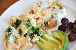 Salmon and Broccoli Scramble recipe from Fitness Finally in Georgetown KY