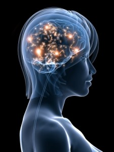Brain neural connections firing